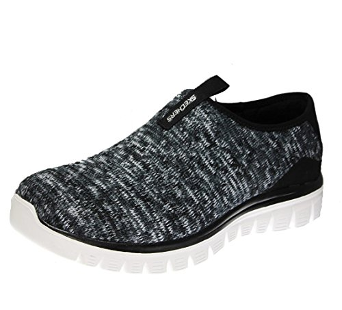 Skechers Empire-Inside Look, Sneakers Basses Femme Black/White Knit