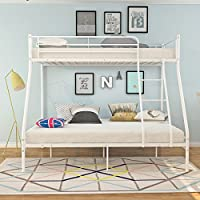 Bon_shop Triple Sleeper Metal Bunk Bed 3 Person for Children Kids