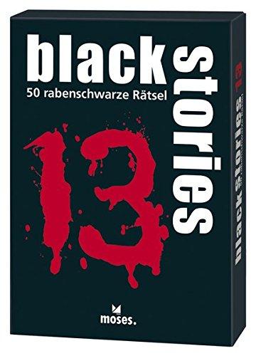 moses. black stories 13 | 50 rabenschwarze Rätsel | Das Krimi Kartenspiel
