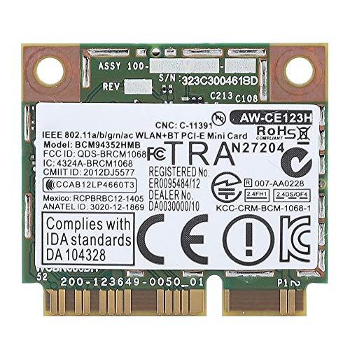 PCI-E-Karte, 2,4G + 5G Dual-Band-Mini-PCI-E-Bluetooth 4.0-WLAN-Karte für Dell/Asus/Acer -