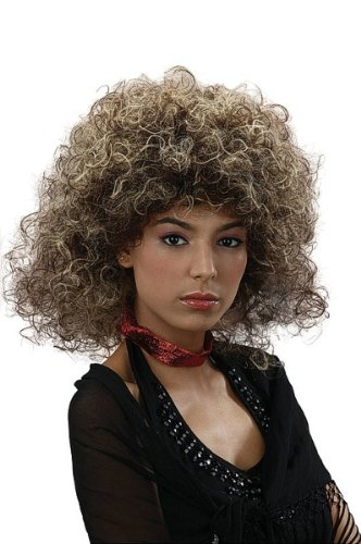 Bristol Novelty bw715 Big Hair 80-Perücke, blond, eine -