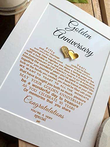 Personalised Golden Wedding Anniversary Gifts Unframed Grandparents 50th Wedding Anniversary Auntie Uncle Mum Dad Friends Unframed Print For 10x8 Frame Not Supplied Amazon Co Uk Handmade