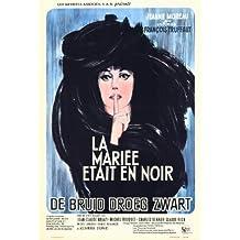 The Bride Wore Black Póster de película Belgian 11x 17en–28cm x 44cm Jeanne Moreau Claude Rich Jean-Claude Brialy Michel ramo Michael (Michel) Lonsdale Charles Denner