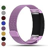 iFeeker Bracelet de rechange pour Smart Watch, fermoir aimanté, maille milanaise en acier inoxydable - compatible Smart Watch Samsung Gear Fit2SM-R360et Gear Fit 2PRO, lavande
