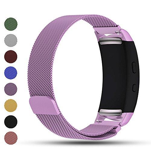 iFeeker Zubehör Magnetverschluss Edelstahl Milanese Loop Metall Ersatz Armband Handschlaufe Ersatz für Samsung Gear Fit2 SM-R360/Gear Fit 2 PRO Smartwatch