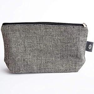 Handtaschen Schwarzer Kosmetiktasche 100% Leinen - Reißverschluss-Beutel Schminktasche, Make-up Beutel   ThingStories