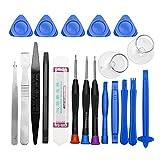 Kit d'outils d'ouverture de téléphone portable 20 en 1 pour iPhone, iPad, Samsung, outils à main de réparation, kit de démontage de téléphone portable...