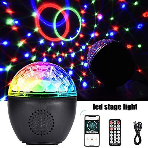 Ingeniously Bluetooth Disco Ball Lichter 16 Licht Mod LED Party Lichter DJ Sound Aktiviert Rotierende Lichter Drahtlose Telefonverbindung mit Bluetooth Lautsprecher MP3 Play und Fernbedienung Mod-telefon