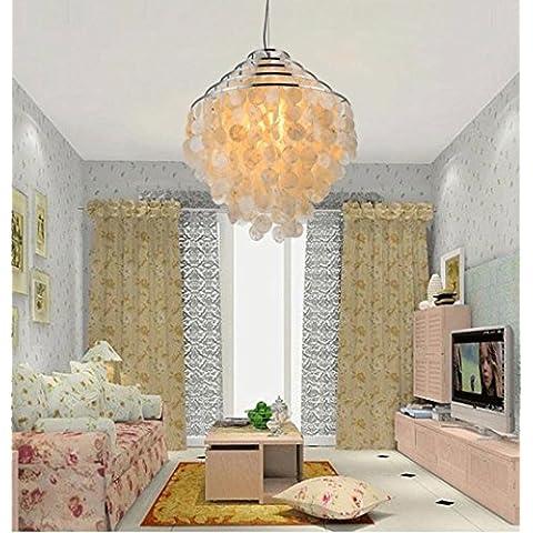 lampada da letto pastorale studio ristorante conchiglia lampadario nordico moderno e minimalista creativo - Chiocciola Conchiglie
