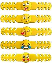 "SmartBuy 5 PCs Emoji Ear Saver for Kids   Mask Extender Specially Made for Children   4"" 10 CM Long Reusa"