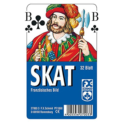 Ravensburger 27003 - Skat, französisches Bild - 32 Blatt, glasklares Etui
