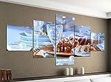 Acrylglasbilder 5 Teilig 200x100cm Weihnachten Glas Sekt Xmas Küche Druck Acrylbild Acryl Acrylglas Bilder Bild 14F549, Acrylgröße 11:Gesamtgröße 200cmx100cm