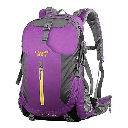 ZQ Freien Bergsteigen Taschen Schulterbeutel, Reisewanderrucksackwasserdicht wear atmungs 40 liters red