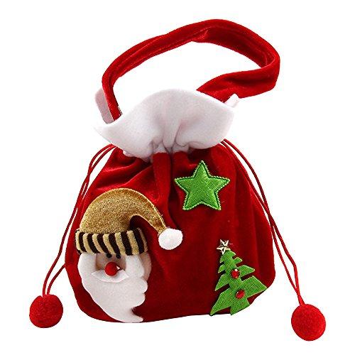 Alxcio Weihnachten Dekorationen Weihnachten Geschenktasche Niedlich Kinder Weihnachten Santa Säcke Beutel Zucker Süßigkeiten Tasche,Santa (Hüte Verkauf Für Santa)