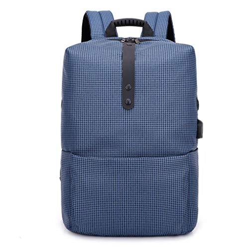 Cloom zaino, zaino per pc moda multifunzionale antifurto zaino alta capacità borsa del portatile con usb laptop portatile backpack casual impermeabile unisex per la scuola (blu,1pc)