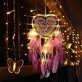 TOPmountain Love Lantern Dreamcatcher, Creative Dream Catcher Dreamcatcher Love Heart Regalo Fiesta LED Luz Vintage