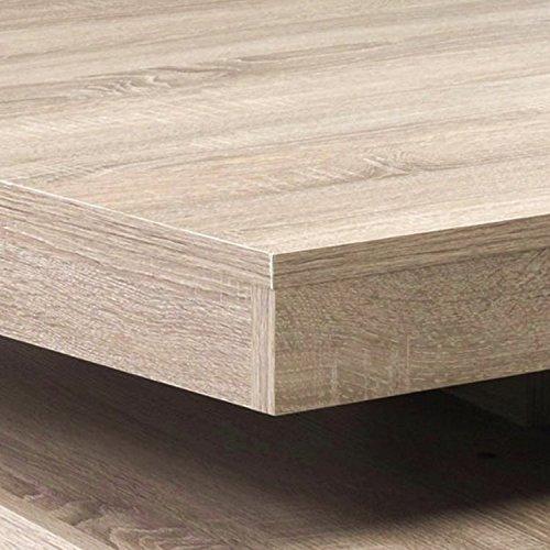 Presto mobilia 10964 Couchtisch Gabor 25, 78 x 78 x 34 cm, Sonoma ...