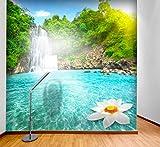 PVC Fototapete – ECO Wandbild Selbstklebende Tapete – 3D Vinyl Wandsticker - Wasserfall SW195(50X50CM)