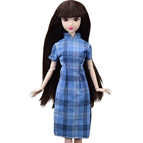 Schönes chinesisches Art handgemachtes Cheongsam altes Kostüm Kleid für 11.5 Zoll Puppe ()