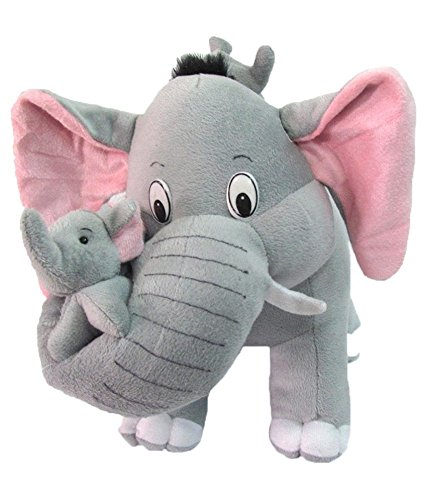 Deals India Mother Elephant With 2 Babies Soft Toy -...
