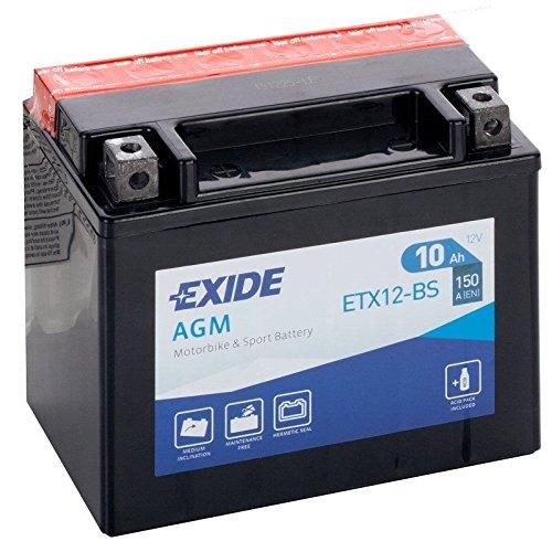 BATTERIA MOTO EXIDE 10 AH 150 EN YTX12-BS = ETX12-BS