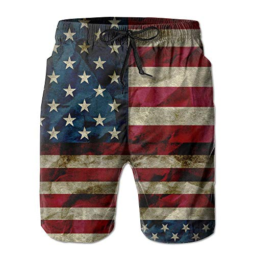 khgkhgfkgfk USA Hipster Beach Shorts of Men Quick Dry Swimming Trunks Size XXL Large -