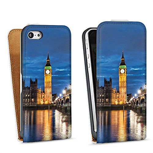 Apple iPhone SE Housse Outdoor Étui militaire Coque Londres Angleterre Big Ben Sac Downflip blanc
