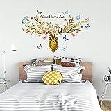 Stickers muraux Papillon jaune sika cerfs stickers muraux chambre salon décoration murale peinture peinture PVC autocollants 78 * 112 cm