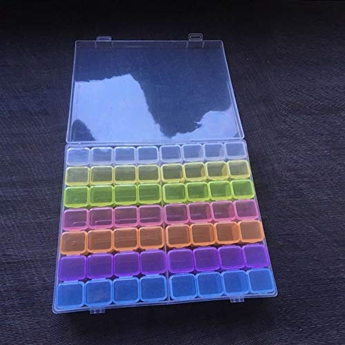Xy Exquisite 56Lattices Dismountable Diamant Stickzubehör Diamant Malerei Boxen-Kreuz-Stich-Hüllen-Speicher-Organisator Home Storage (Color : 56Lattices Multi)