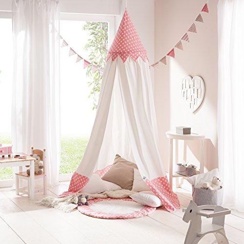 """Preisvergleich Produktbild howa Baldachin Betthimmel Spielzelt für Kinderzimmer """"Bella"""" Baumwolle incl. Bodenmatte rosa/weiß"""