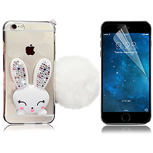 iPhone 6 Plus Cover, Bonice iPhone 6S Plus Custodia (5.5), Ultra Slim Thin Morbido TPU Clear Trasparente Animale Cat Case model 1
