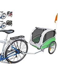 Polironeshop Snoopy - Remorque de vélo pour transporter chien, animal, etc., vert, M