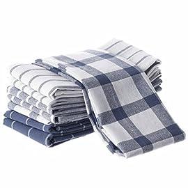 30 * 70 cm Strofinacci da Cucina e Strofinacci da t/è Hancal Asciugamano Bianco e Nero Pois Asciugamani da Cucina-strofinaccio-Lavabile in Lavatrice Strofinacci da Cucina