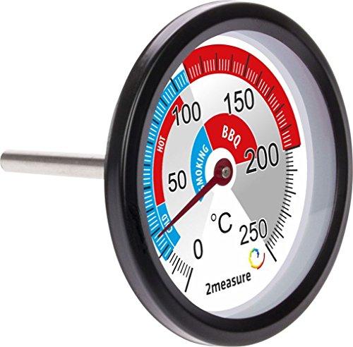 Große BBQ Thermometer Räucherthermometer Smoker Grill Räucherofen Edelstahl