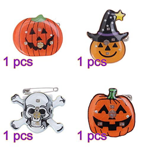 BESTOYARD 4pcs Halloween Brosche LED Pin Button Kinder Party Favors