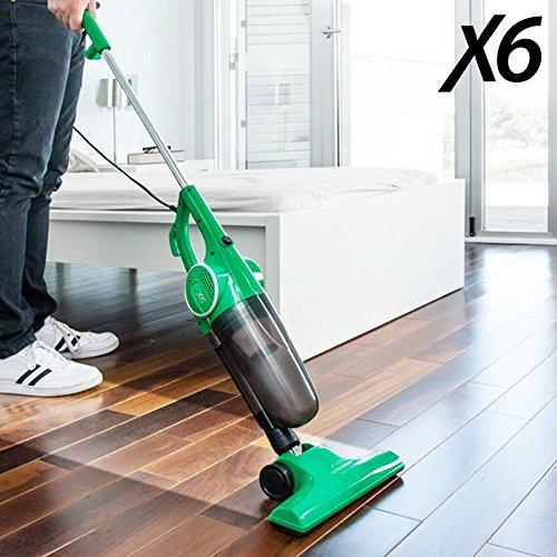 Aspiradora eléctrica X6multifunciónAspiradora tipo escoba y aspirador de mano 2en 1.Tecnología ciclónica sin saco; clase energética A. 0312
