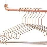 rod & knot Design Kleiderbügel in Kupfer aus sehr stabilem Draht – 8 Stück