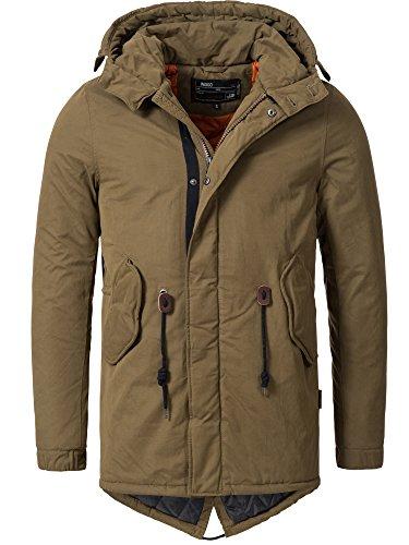 INDICODE Chaqueta de invierno de los hombres Parka con capucha Bowen Jacket  Mens Coat 15-