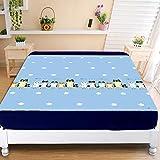huyiming Utilisé pour l'impression coréenne Couverture de lit Couverture de Protection de Matelas 1.5/1.8m Couvre-lit Anti-dérapant Couvre-lit épaississement 150cm * 200cm