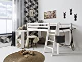 Cabin Bed with Desk in WHITE DESK-NT -WHITE