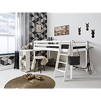Cabin Bed High Sleeeper with Desk in WHITE ,New york 2'6 ...