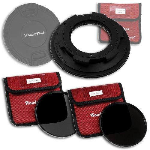 Fotodiox WonderPana 145-Kit filtri a densità neutra, 145 mm, con filtro e tappo per obiettivo e filtri, ND16 ND32, per Sigma 8-16 mm f/4. 5-5,6 DC HSM Ultra-Wide Zoom