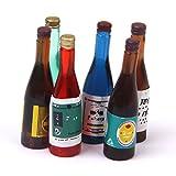 Botellas en miniatura - TOOGOO(R) 1/12 Botellas en miniatura de casa de munecas vino 6 pieza juego