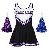 maboobie Damen Kleid Gr. XL 42-44, schwarz/violett