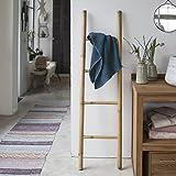 Tikamoon 2137escalera puerta toalla de baño bambú beige 40x 4x 150cm