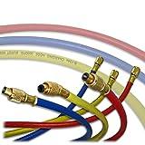 Tuyaux flexibles pour fluides réfrigérants R134a Longueur 180cm - Raccord 1/4