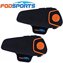 Fodsports 2 Piezas BT-S2 800-1000m Casco de la motocicleta del intercomunicador intercomunicador de Bluetooth Walkie-talkie