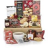 Weihnachtsgeschenkkorb mit alkoholfreien Leckereien - Wunderbarer Weihnachtsgeschenkkorb voller Weihnachtsleckereien und alkoholfrei