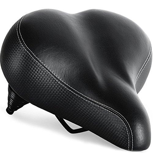 Bequemster Fahrradsitz für Senioren- Extra breiter und gepolsterter Fahrradsattel für Männer und Frauen Komfort von Bikeroo 26 cm x 26 cm - Universal-Fahrradsitzersatz (Outdoor)