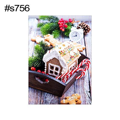 MYGYSJK S721 Weihnachtsmann-Kirchen-/Hunde-Muster, DIY, Geschenk, ohne Rahmen, Wanddekoration, 30 x 40 cm, Santa Claus Kirche und Hund, rundum mit Diamant-Stickerei S756 -